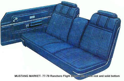 1977-79 Ranchero Flight Bench Upholstery